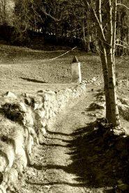 il sentiero che da ala va a Pian del Tetto