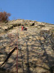 arrampicata in falesia a Voira