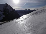 partenza con gli sci