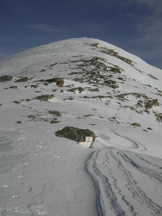 Colle di Seccia;in alto la quota 2614(di Seccia nella descrizione).