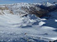 Situazione neve dalla cima del Parpaillon