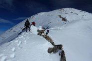 un breve tratto di misto lungo la cresta (10-12-2011)
