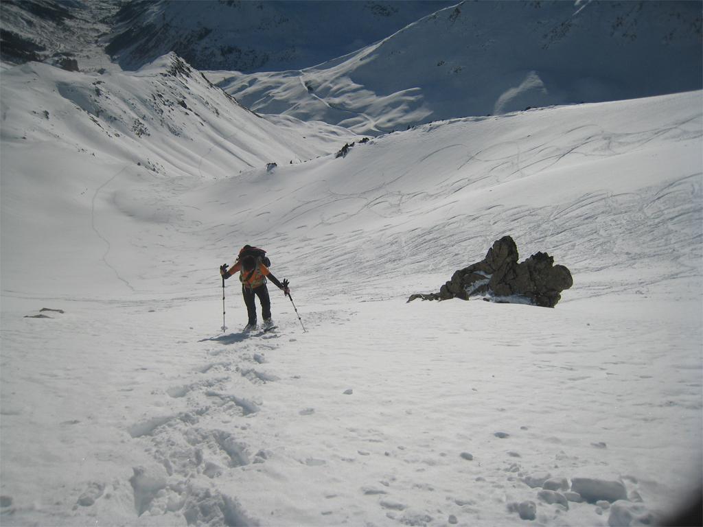 Galibier (Pic Blanc du) dal Col du Lautaret per i canalini SE 2011-12-11