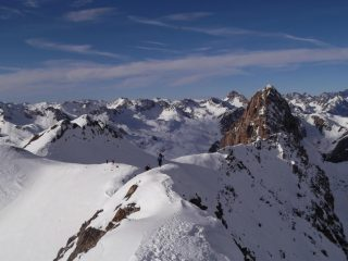 sulla cresta finale della cima ovest del Becco