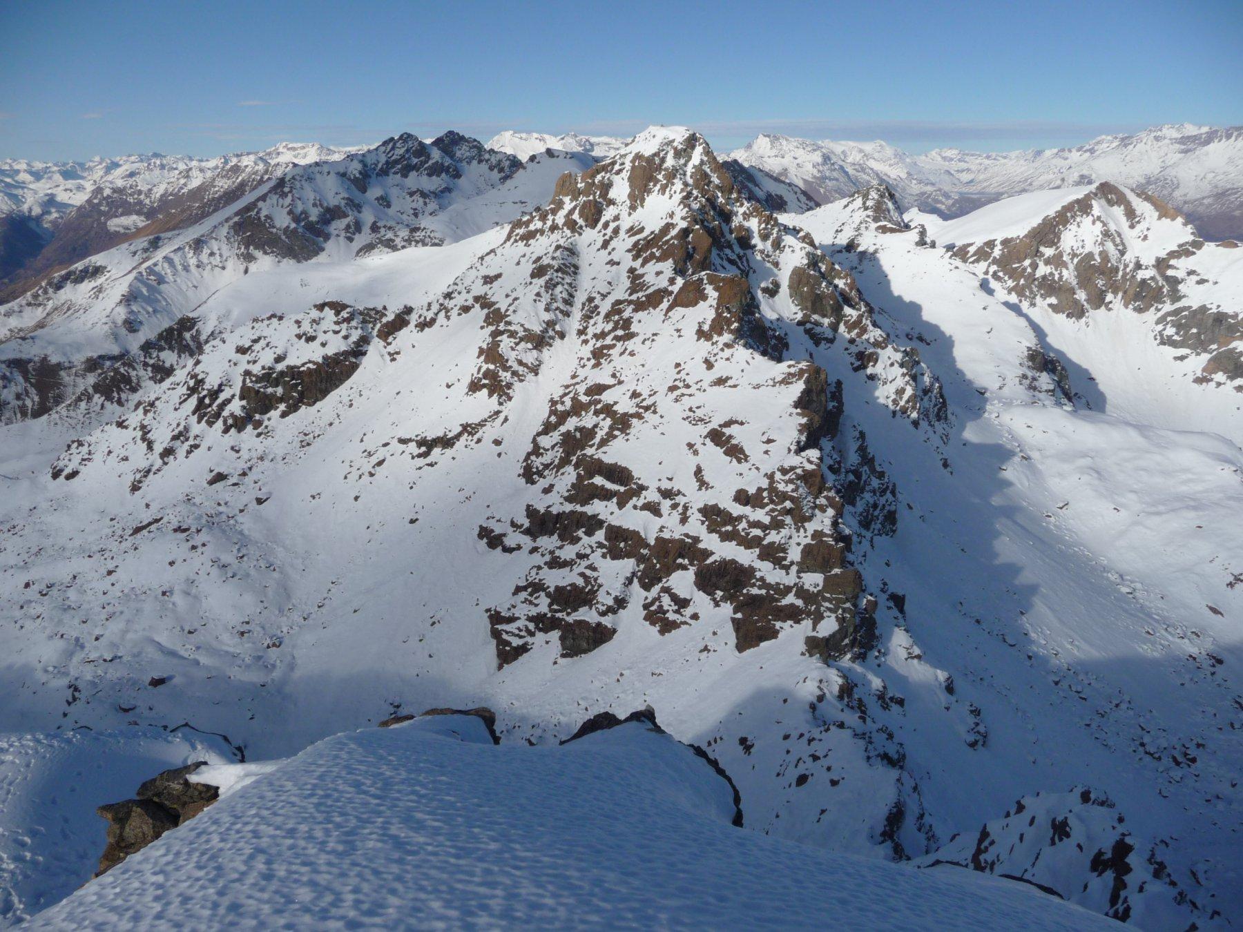 verso la Cristalliera dalla cima ovest del Rocciavré