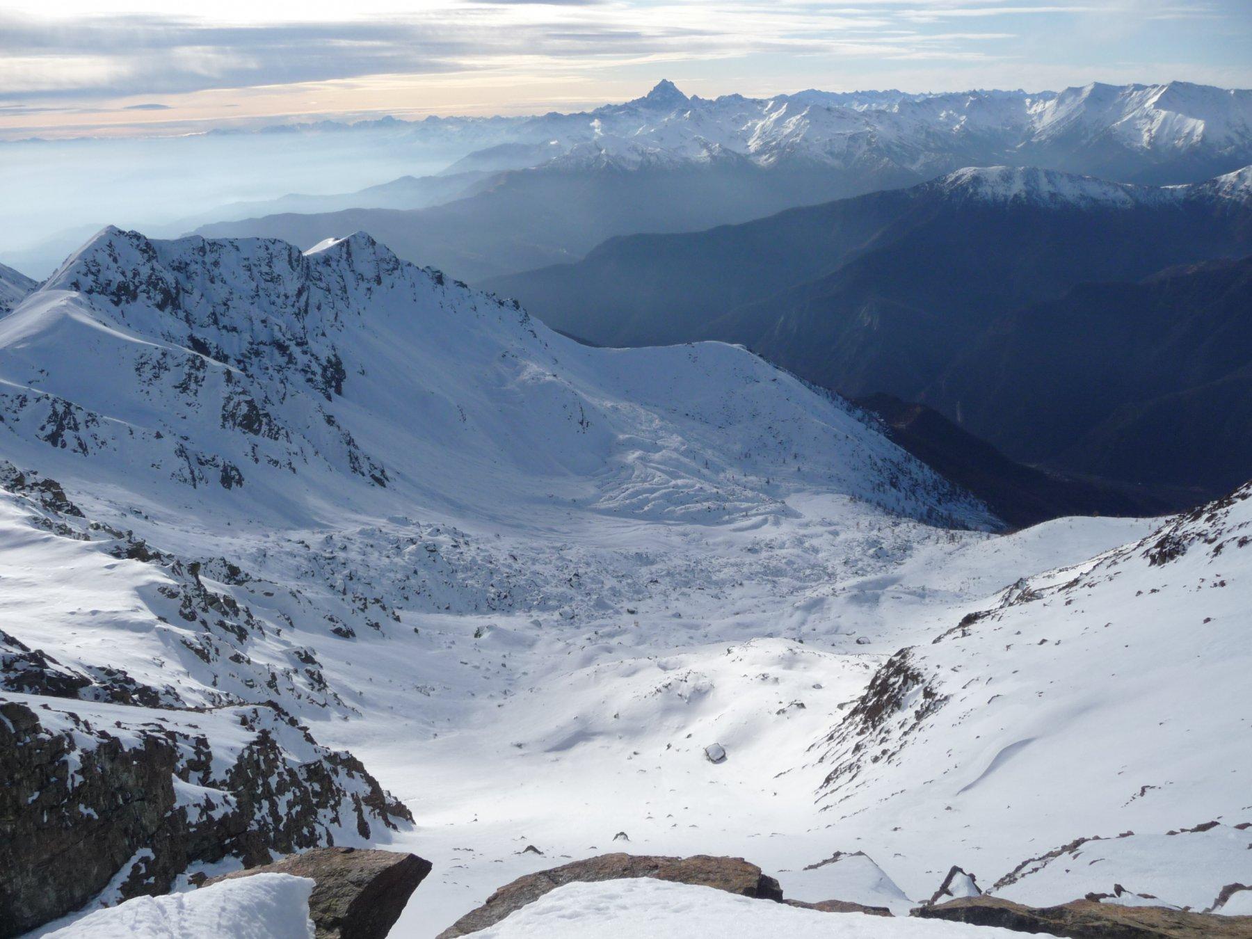 verso il Monviso dalla cima ovest del Rocciavré