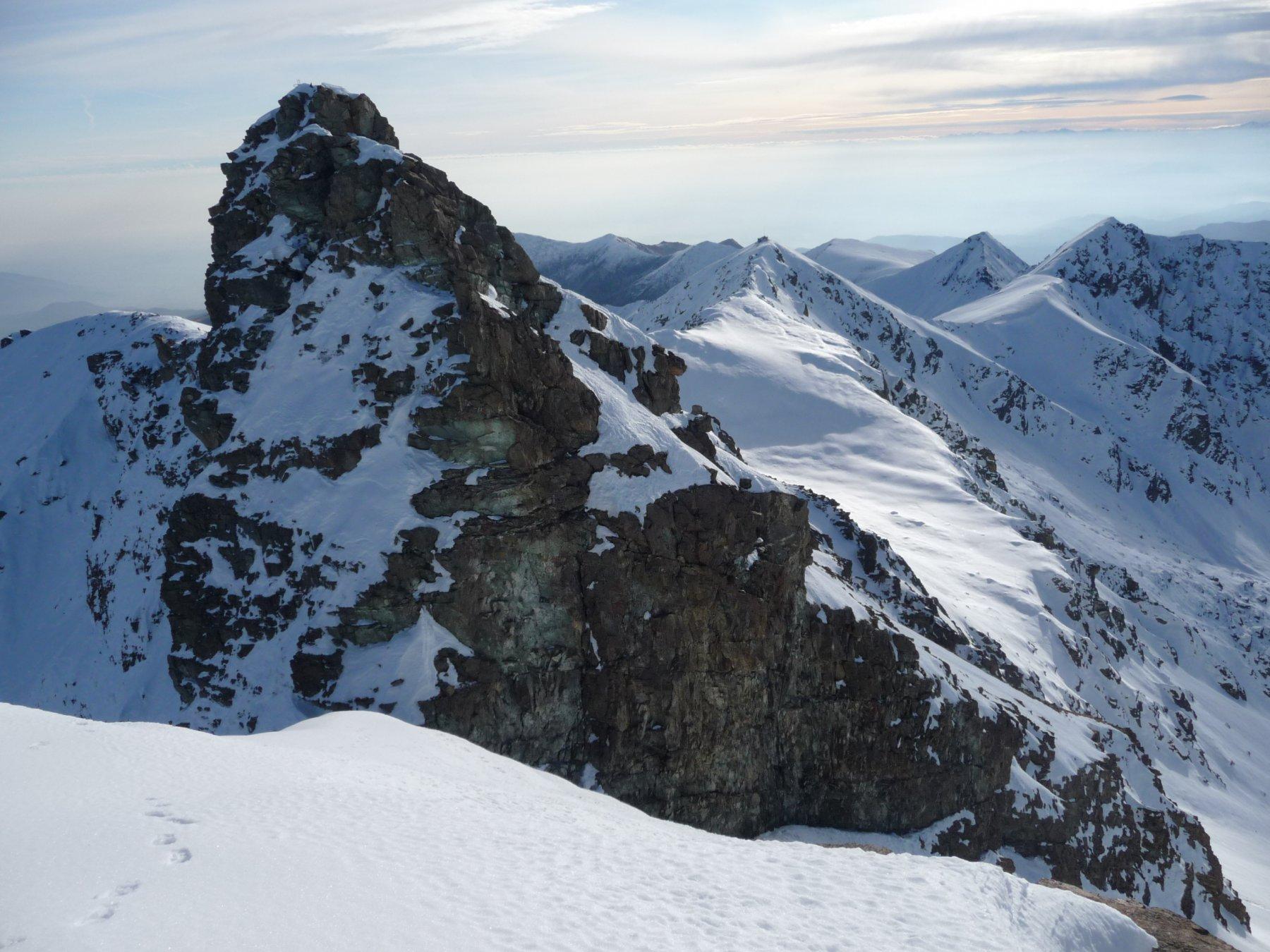la punta est del Rocciavré dalla punta ovest