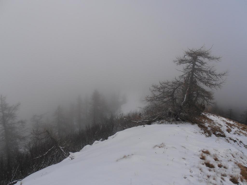 05 - panorama nullo dalla cresta e bufera che arriva con forti folate di vento