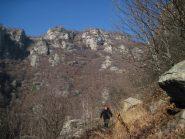 Scendendo nel vallone di Reynaud