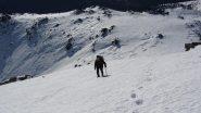 Maria Carla in salita sulla cresta finale (26-12-2011)