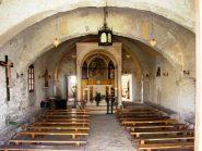 interno dell'abbazia (trovata apeta una sola volta alcuni anni fa)