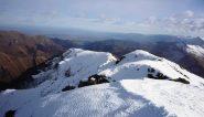 La panoramica cresta verso il Monte Crosetta