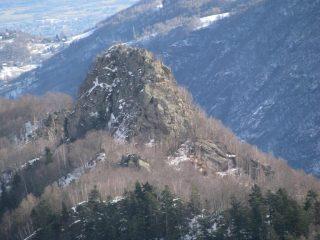 Testa di Pertia, zoom da Punta di Tirolo