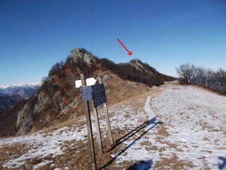 la punta Gutzart vista dal passo di Ceresola