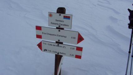 cartelli indicatori nel Vallone del Maurin (7-1-2012)