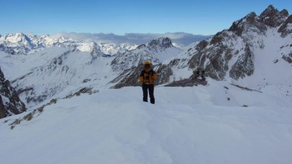 Manuela sulla cresta finale (7-1-2012)