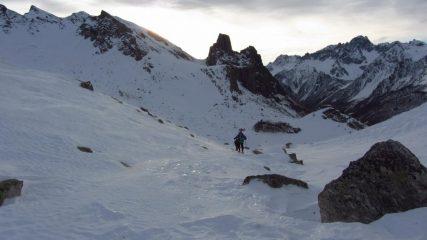 il primo tratto di vallone appena risalito (7-1-2012)