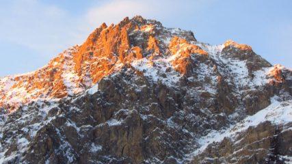 le prime luci del sole sulla Rocca Bianca (7-1-2012)