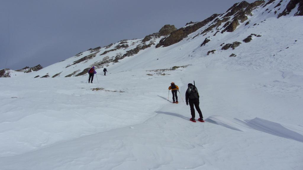 salendo verso la base del pendio-canale del versante Sud della Cialancion (7-1-2012)