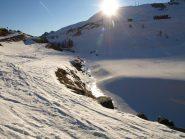 Il Torrente Ayasse ghiacciato a Dondena