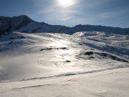 Altra veduta della Punta Asgelas a destra (3021 m) e della Rosa dei Banchi a sinistra (3164 m)
