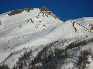 la via di salita dall'alpe Sangiatto