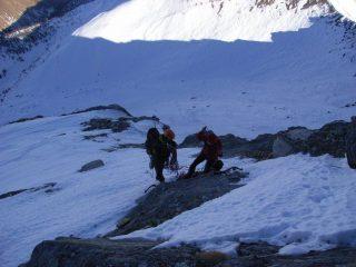 l'uscita sui nevai  nord -ved. itinerari sci ripido
