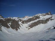 Lago Agnel e sullo sfondo cima del Tout Blanc