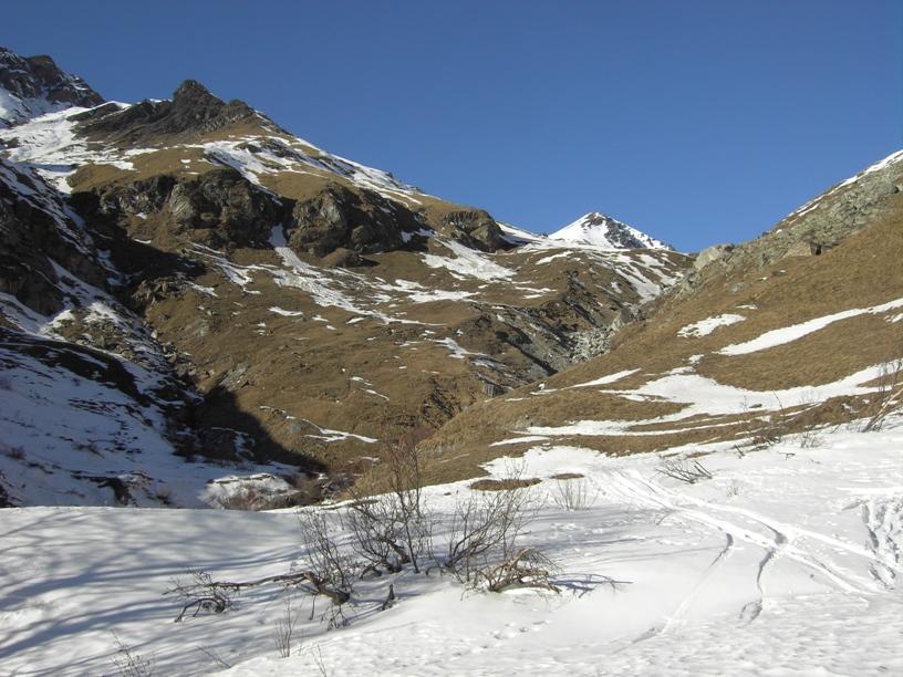 La parte da percorrere sul sentiero estivo.