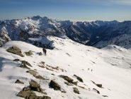 Sulla cresta della Valfredda, gli scialpinisti che ho incrociato
