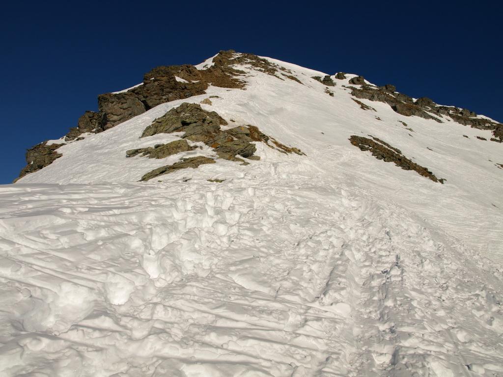 L'ultimo tratto per raggiungere la vetta della Valnera, che non ho percorso per mancanza di piccozza e ramponi