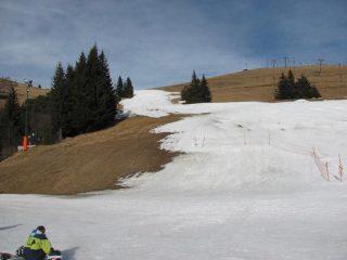 La mancanza di neve a Bielmonte