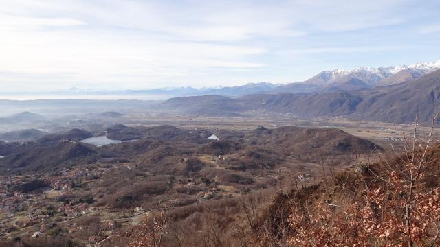 vista sui laghi e le colline moreniche