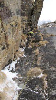 L5 50 mt. di roccia teppe e verso la fine un po di ghiaccio