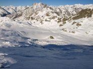 Valle del Torrente Loo e Punta Cornaccio (2533 m) visti da Punta Lazoney