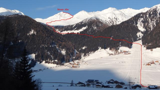 Alto (Monte) o Hoher Mann da Santa Maddalena 2012-01-31