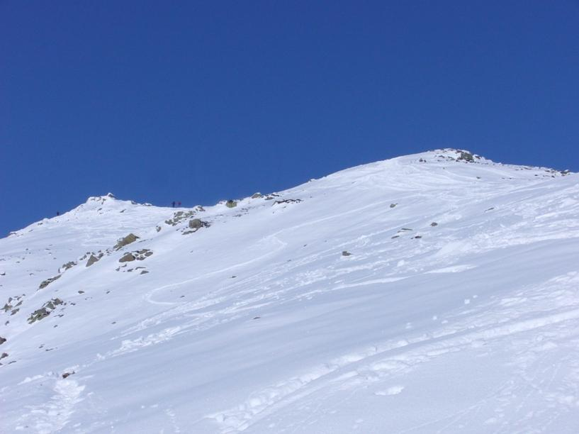 parte alta, poca neve