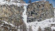 la cascata vista da Tignet