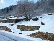 L'imbocco del sentiero n.1 da Cara (1160 m)