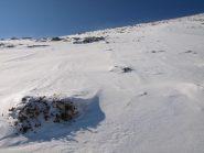 Ultimi metri ripidi a quota 2290 m prima della cresta