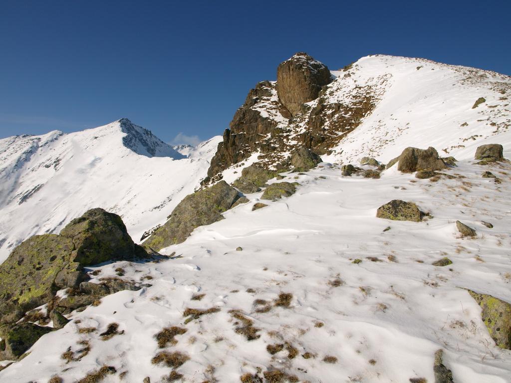 La cresta e la vetta di Punta Prial (2424 m)