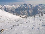 Vista sulla Valle di Gressoney da quota 2250 m