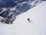 Mari Marilù punta gli sci verso il colle del Monginevro