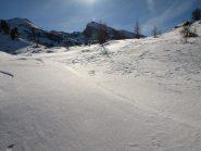 In cerca del sentiero 2 su neve non battuta