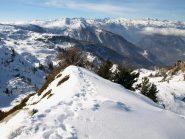 Panorama Ovest dalla cresta dove sono finito