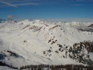 Il panorama visto dalla vetta