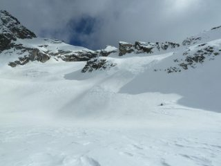 I pendii alti del ghiacciaio