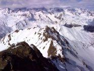 La cresta NW con la Quota 2973.