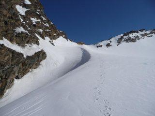 il Colle di Oin dal ghiacciaio della Source de l'Isere