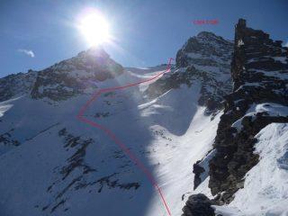 il ghiacciaio del Carro dal colle del paletto